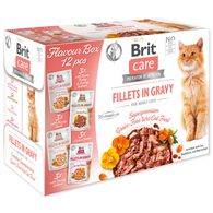 BRIT Care Cat Flavour box Fillet in Gravy 4 x 3 ks 1020g