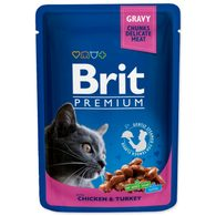 Kapsička BRIT Premium Cat Chicken & Turkey 100g