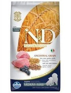 N&D LG DOG Puppy M/L Lamb & Blueberry - 12 kg