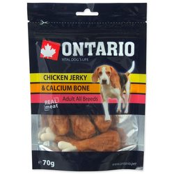 Snack ONTARIO Dog Chicken Jerky + Calcium 70g