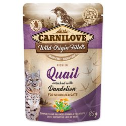 Kapsička CARNILOVE Cat Castrate Rich in Quail enriched with Dandelion 85g