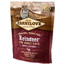 CARNILOVE Reindeer Adult Cats Energy and Outdoor 400g