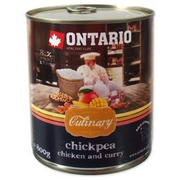 Konzerva ONTARIO Culinary Chickpea, Chicken and Curry 800g