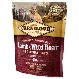 CARNILOVE Lamb and Wild Boar Adult Cats Sterilised 400g