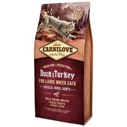 CARNILOVE Duck and Turkey Large Breed Cats Muscles, Bones, Joints 6kg