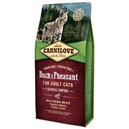 CARNILOVE Duck and Pheasant Adult Cats Hairball Control 6kg