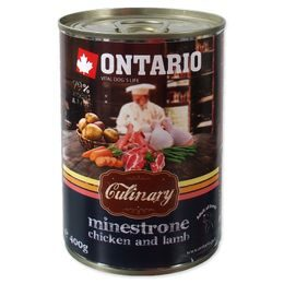 Konzerva ONTARIO Culinary Minestrone Chicken and Lamb 400g