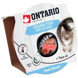Kalíšek ONTARIO Fresh Brunch Kitten Ocean Fish 80g