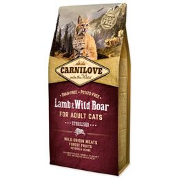 CARNILOVE Lamb and Wild Boar Adult Cats Sterilised 6kg