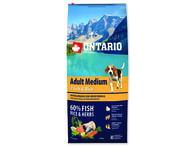 ONTARIO Adult Medium Fish & Rice (12kg)
