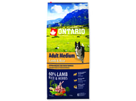 ONTARIO Adult Medium Lamb & Rice (12kg)