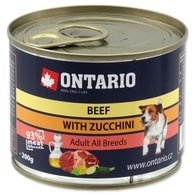 Konzerva ONTARIO mini beef, zucchini, dandelion and linseed oil (200g)