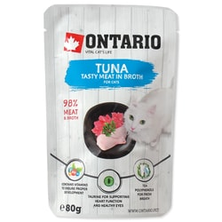 Kapsička ONTARIO Cat Tuna in Broth (80g)