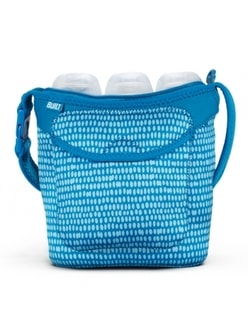 Taška na tři láhve Built Three Baby Bottle Tote Dribble Dots Blue