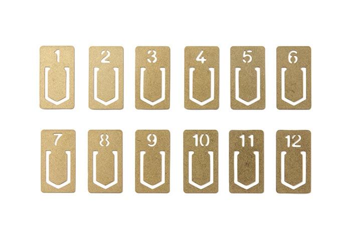 Mosazné číslované záložky Traveler's Company