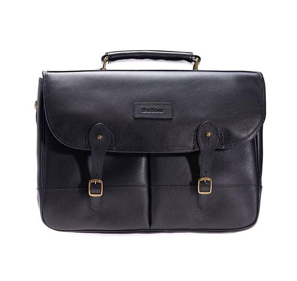 Kožená taška přes rameno Barbour - černá