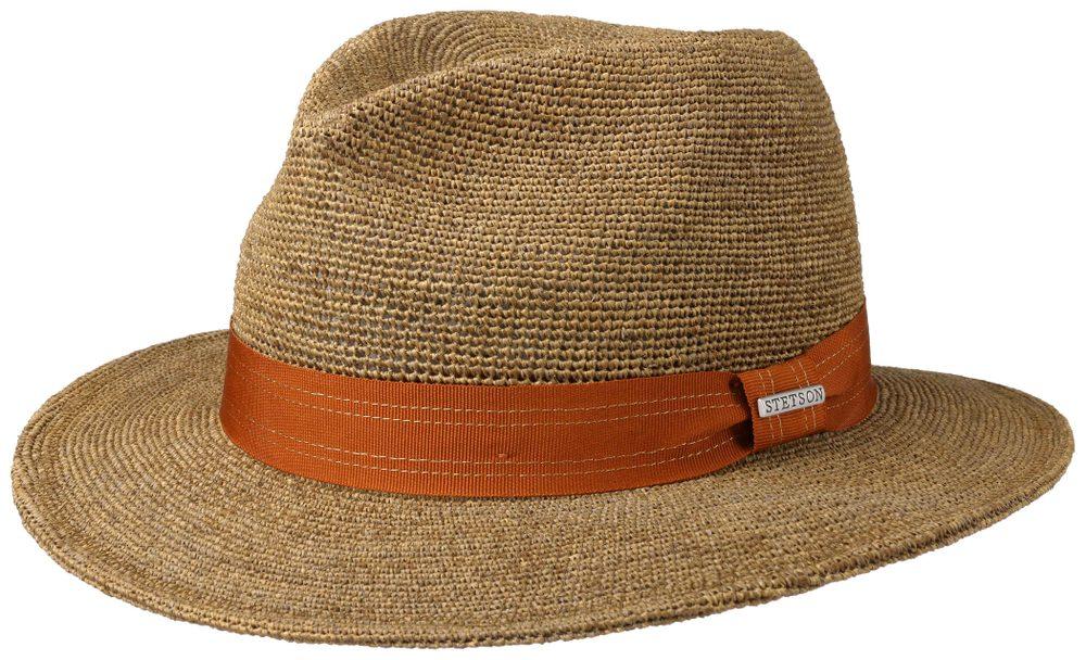 Slaměný klobouk Traveller Raffia - hnědý