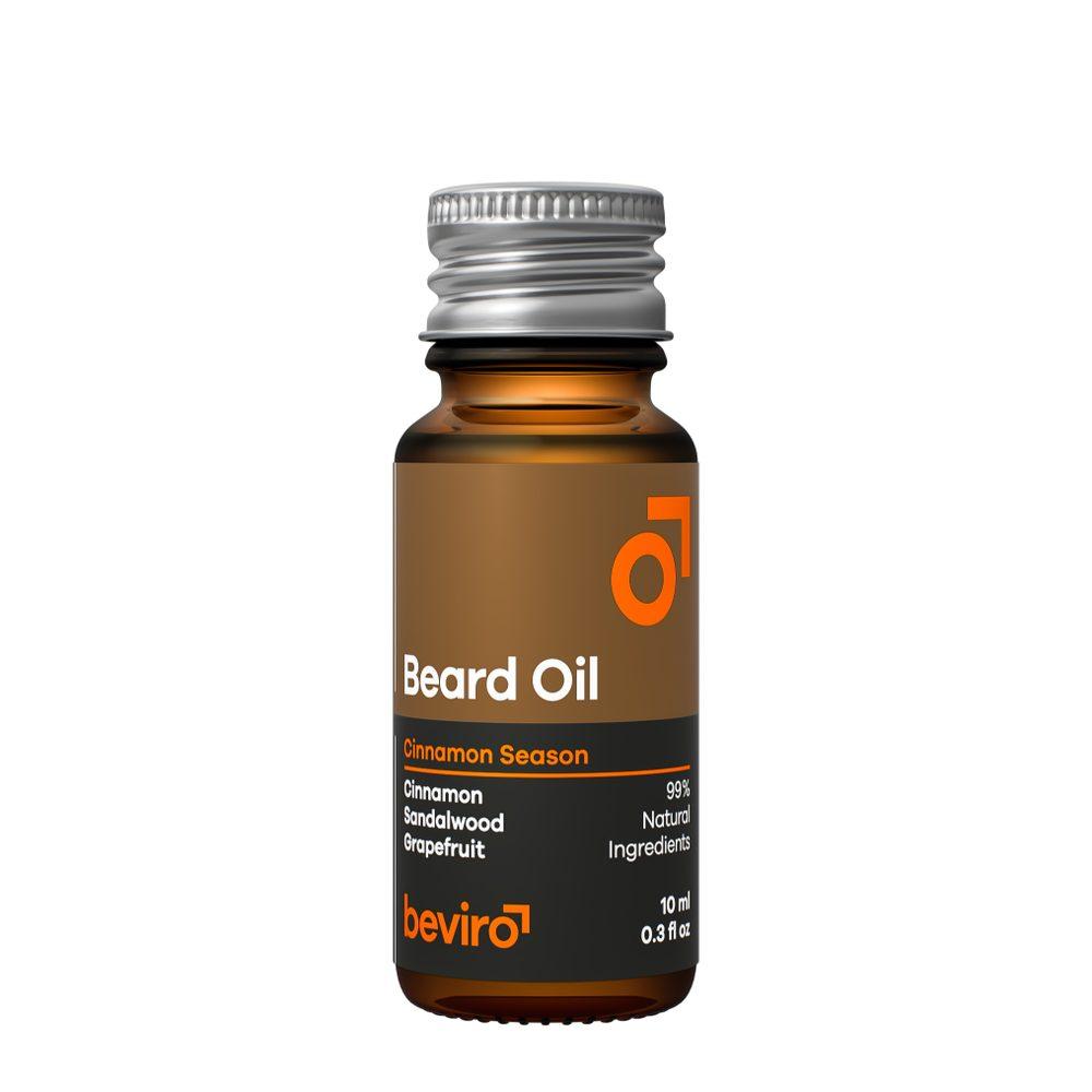 Cestovní olej na plnovous Beviro Cinnamon Season (10 ml)