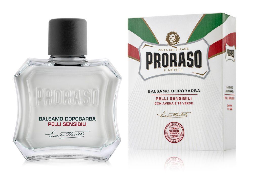 Balzám po holení Proraso White pro citlivou pokožku - zelený čaj (100 ml)