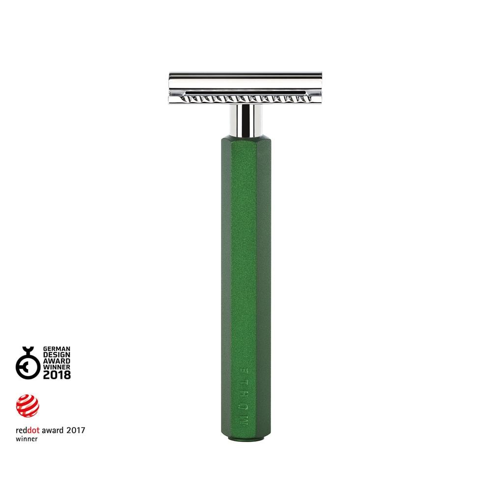 Holicí strojek Mühle Hexagon by Mark Braun s uzavřenou hlavicí - zelený