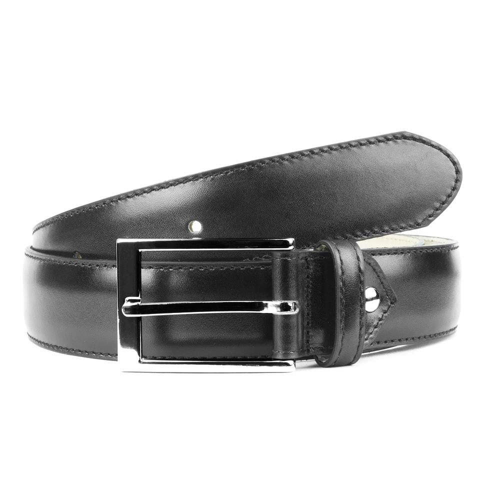 Kožený pásek Berwick - černý