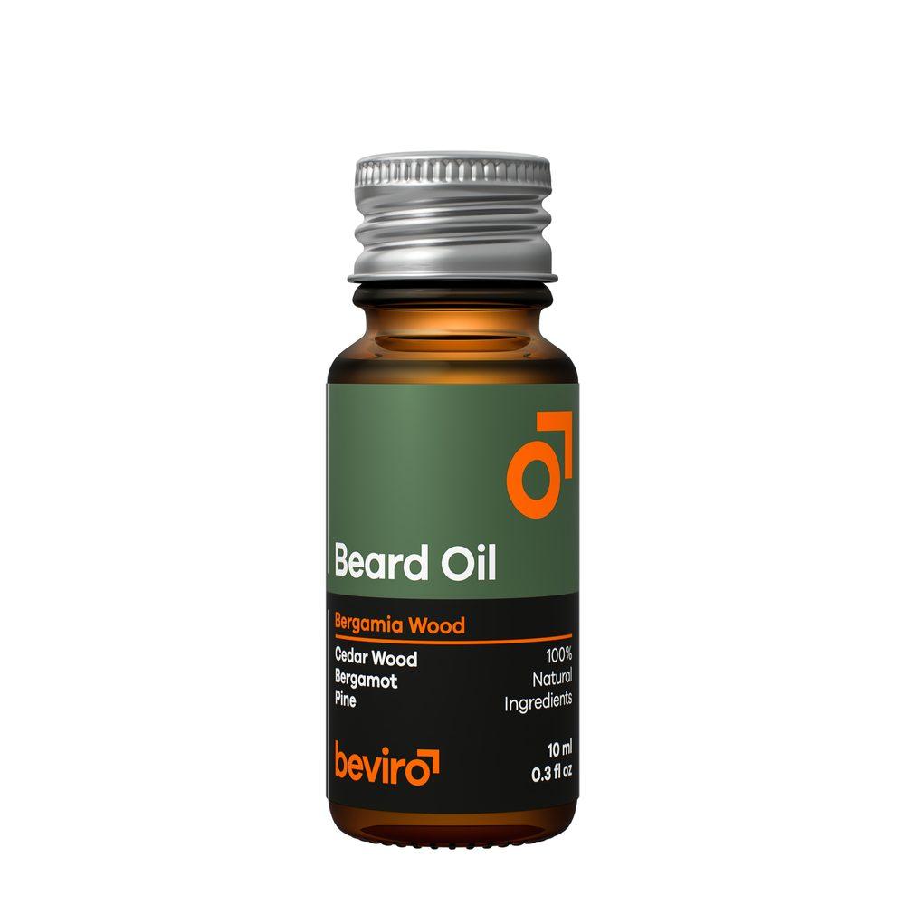 Cestovní olej na plnovous Beviro Bergamia Wood (10 ml)