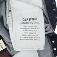 Džíny C.O.F Studio M7 Tapered - Indigo Selvedge (Rinsed)