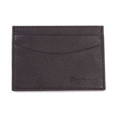 Pouzdro na karty Barbour Amble Leather Card Holder - Dark Brown