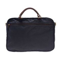 Voskovaná taška na notebook Barbour Wax Leather Briefcase - navy