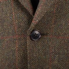 Tweedové sako Walker Slater Edward - Green & Red Windowpane