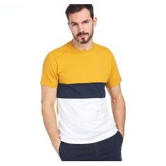 Tričko Barbour Castle Panel Tee - zlaté