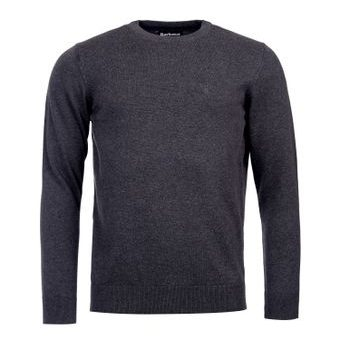 Lehký svetr Barbour Pima Cotton Crew Neck - antracit