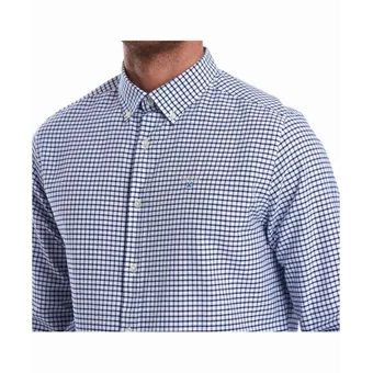 Kostkovaná košile Barbour Tatersall - Indigo (button-down)