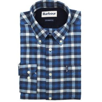 Kostkovaná košile Barbour Country Check 3 - navy (button-down)