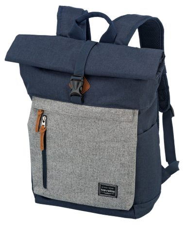 Travelite Basics Roll-up Backpack Navy/Grey