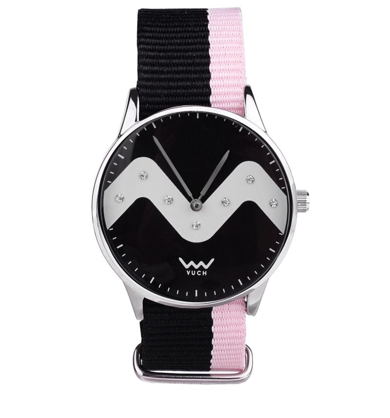 da6faf246 Dámské stylové hodinky s originálním ciferníkem a nylonovým páskem ...