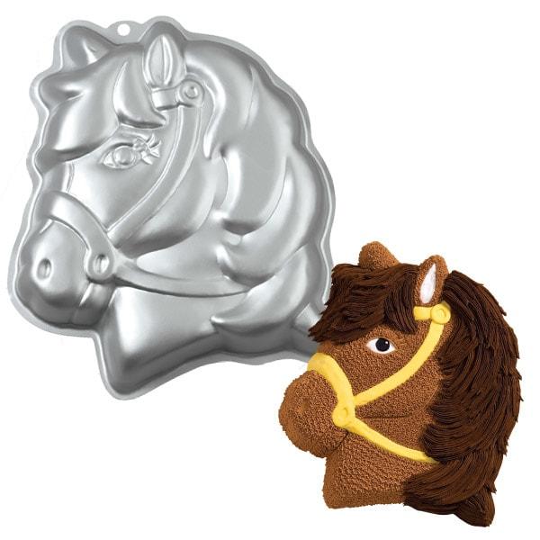 Dortová forma Hlava poníka 3D - Wilton
