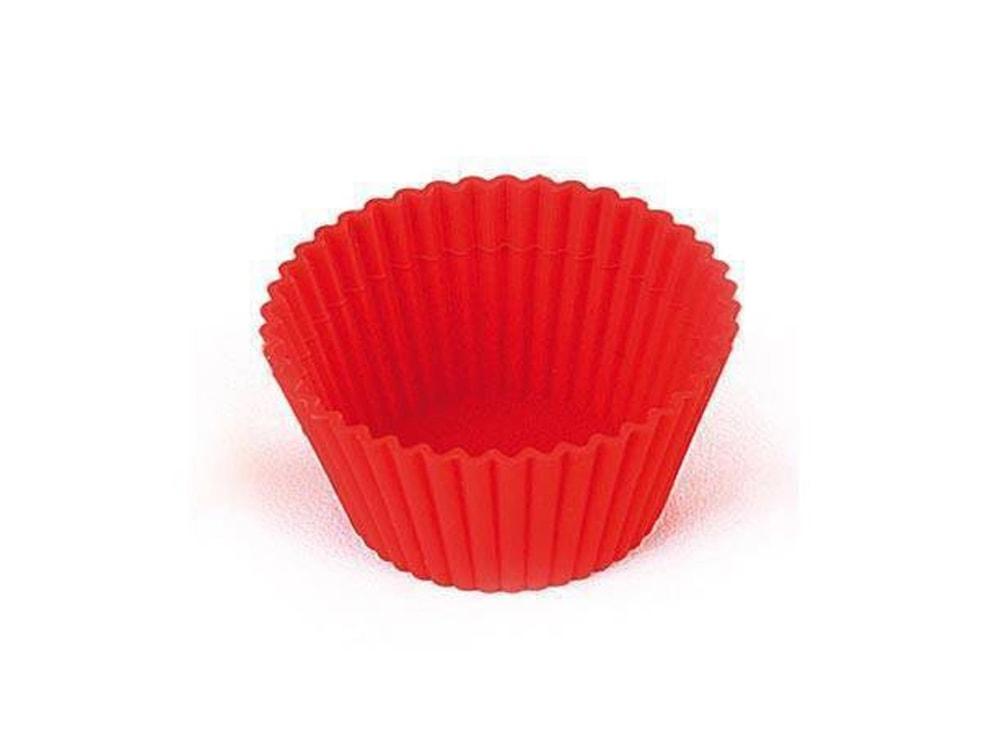 Silikomart Silikonové košíčky na muffiny 6 ks - cupcake formička červené