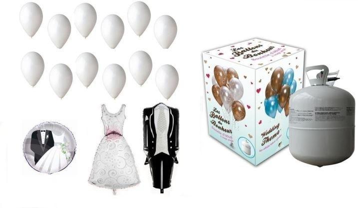 Helium na plnění balonků + svatební balónky - 420 l - BALLONPUB