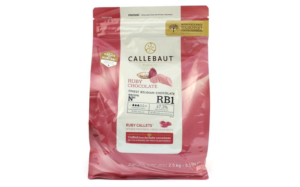 Pravá růžová čokoláda - Ruby Callets - 2,5 kg - Callebaut