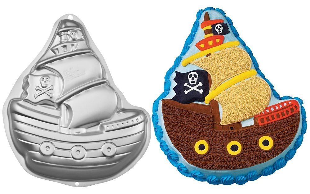 Dortová forma Pirátská loď 3D - Wilton