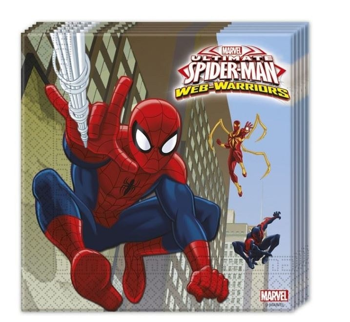 """Ubrousky """" Ultimate Spiderman """", 33 x 33 cm, 20 ks - GoDan"""
