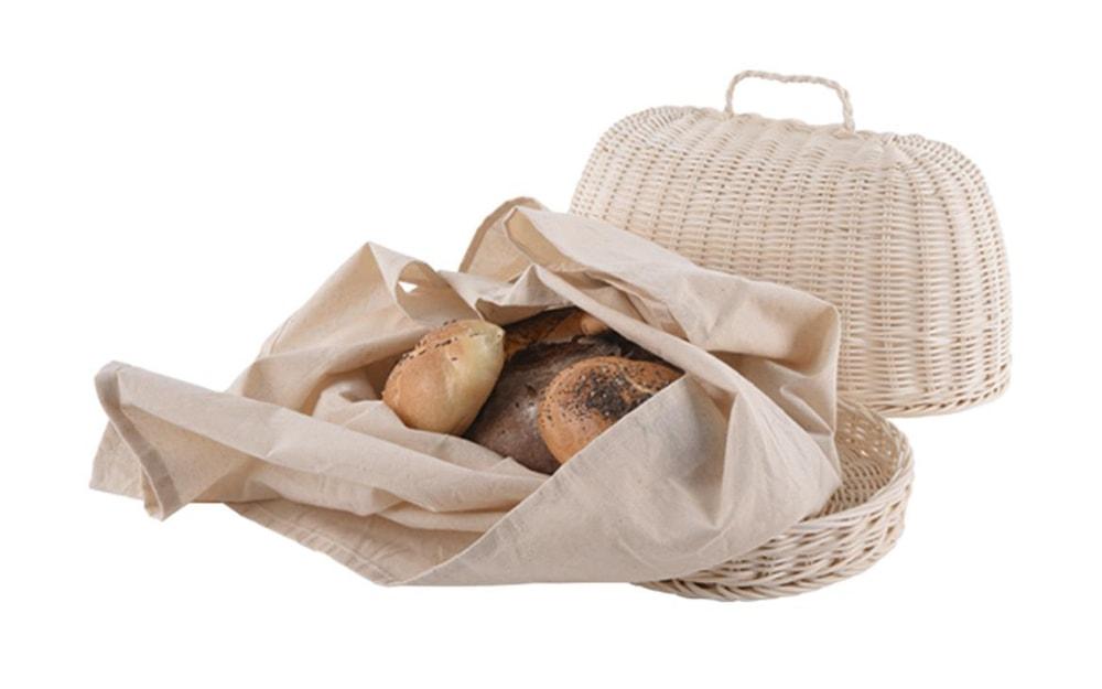 Chlebovka rattan ovál + utěrka - ORION domácí potřeby