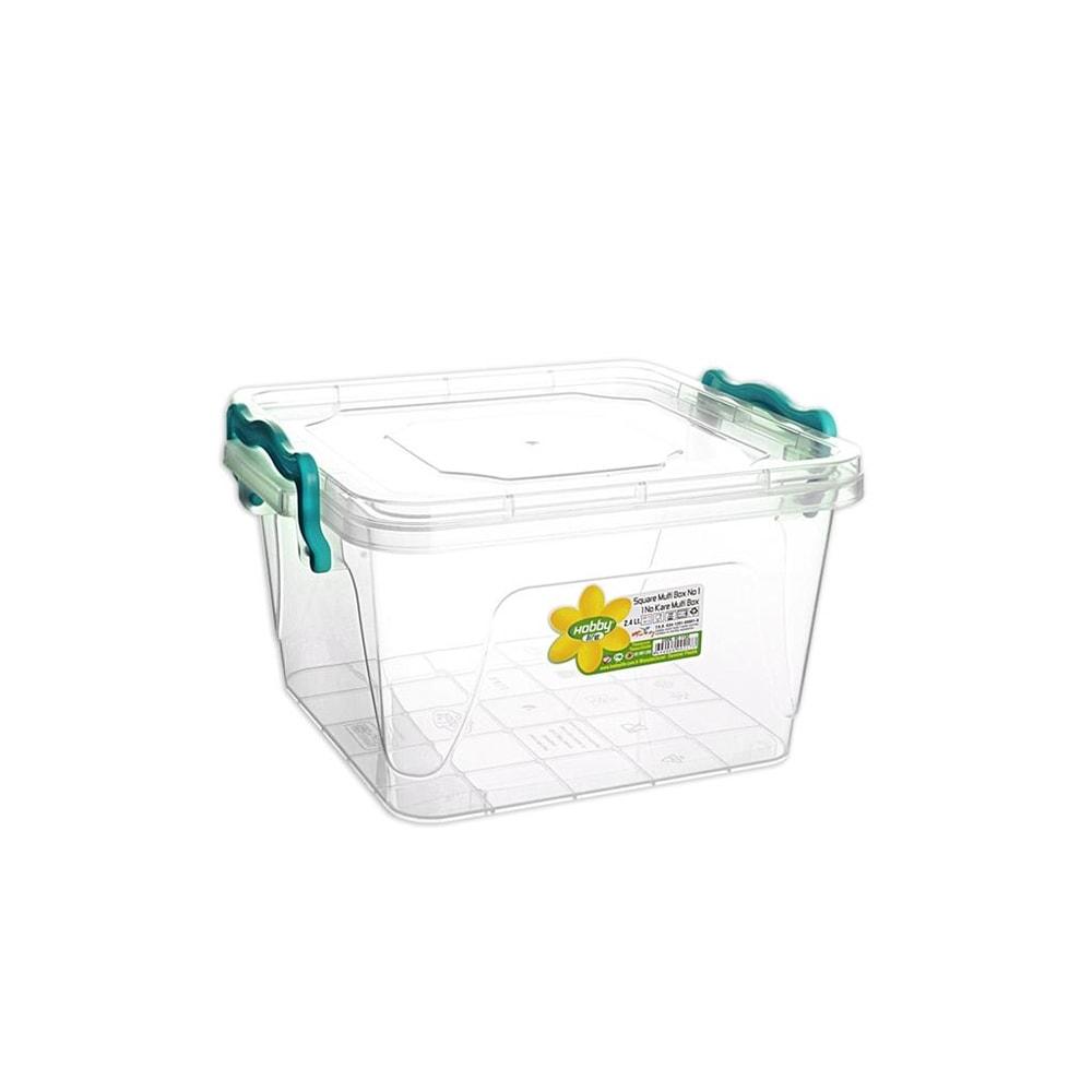 Box plast multi čtverec nízký 2,4 l - ORION domácí potřeby