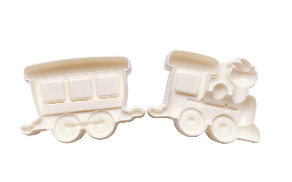 Vláček - Mašinka a vagón - formička na marcipán a modelovací hmoty - Smart Cook