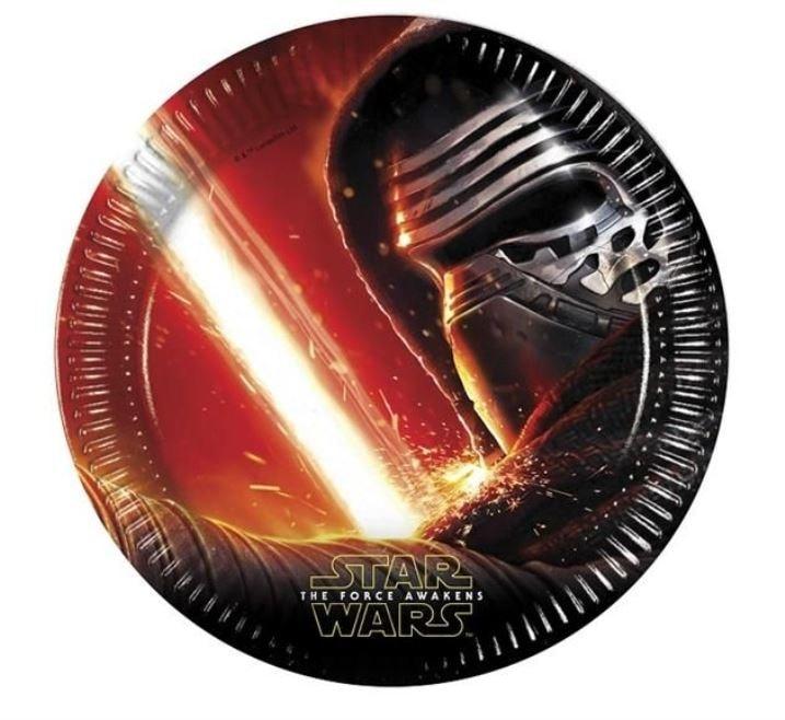 GoDan Talíře papírové STAR WARS - The Force Awaknes 23 cm - 8 ks