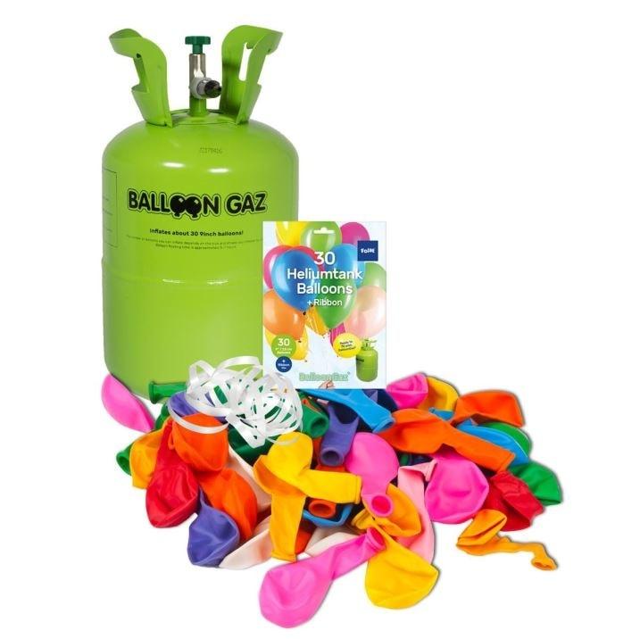 Helium do balónků jednorázová nádoba 250 l + 30 balónků - FOLAT
