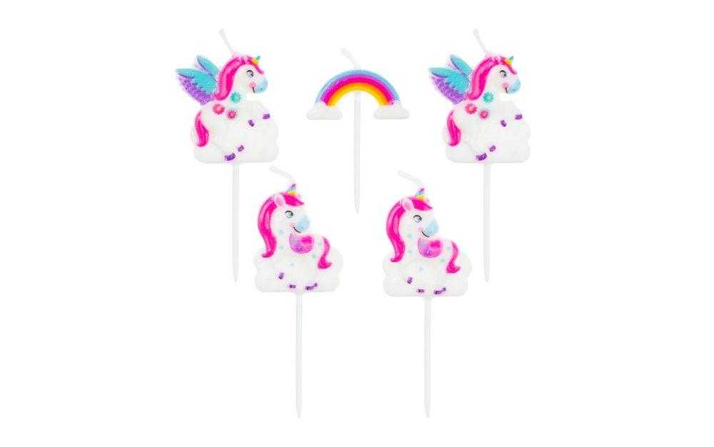 Svíčky Jednorožec - Unicorn 5 ks - GoDan