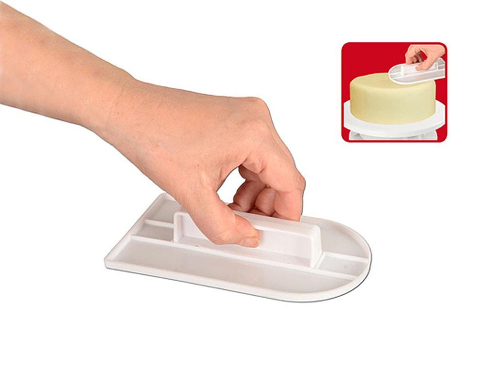Hladítko (žehlička) na marcipán a fondán zakulacená 15x8 cm - ORION domácí potřeby