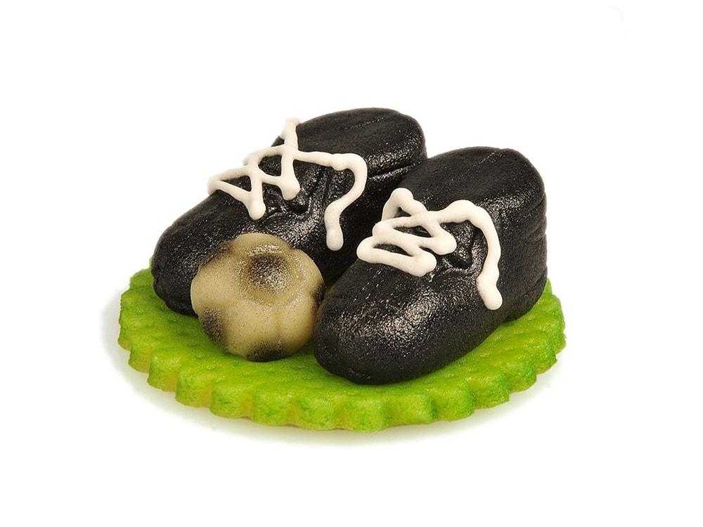 Frischmann Fotbalové kopačky s míčem z marcipánu - černé